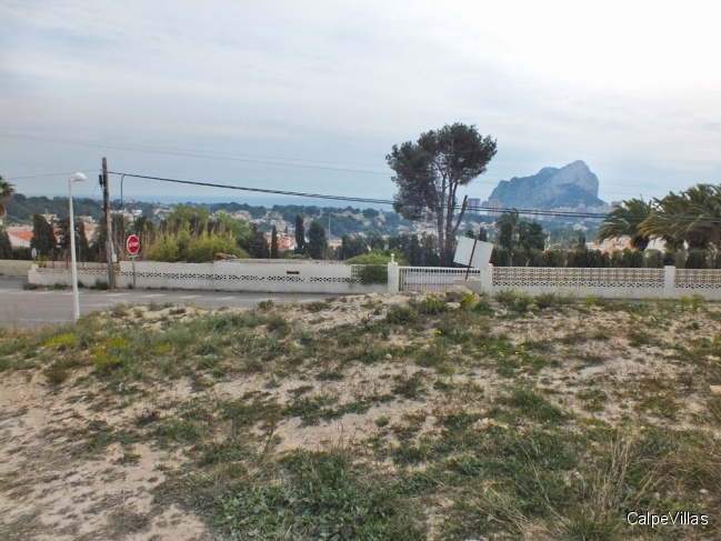 Flat plot in Calpe, Cometa III with sea view
