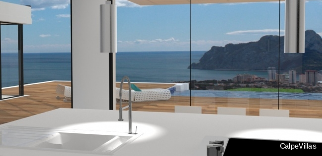 New to be built villa in Benissa with sea views