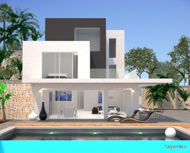 New construction luxury villa with panoramic sea views in Benissa