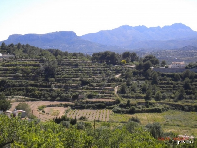 Large plot in Benissa Benimarco with wounderful views