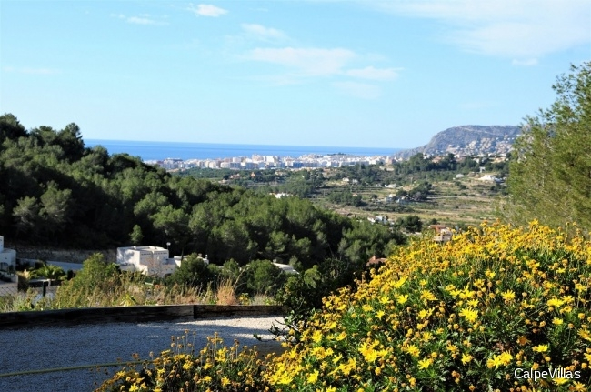 Big plot in Benissa with sea views.  10.250 m²
